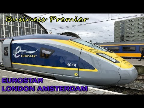 Inaugural DIRECT EUROSTAR train from London to Amsterdam in Business Premier
