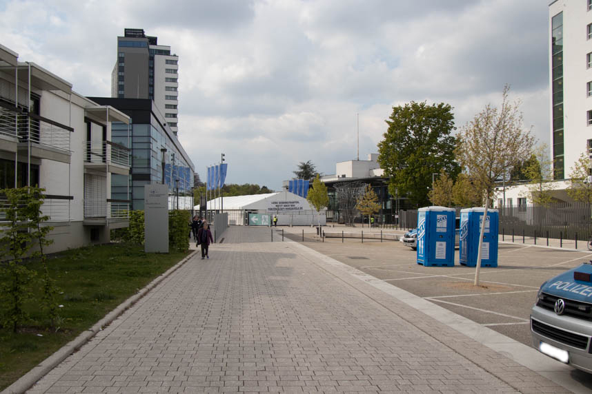 World conference Center Bonn - security tent