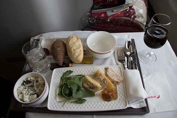 Iberia business class food